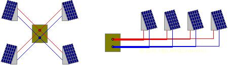 Схемы параллельного подключения нескольких одинаковых электроустройств к одному узлу